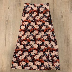 PLANET BLUE FLORAL MAXI SKIRT WITH SLIP - NWT